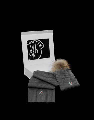 Moncler Kids 4-6 Years - Girl Woman: HAT AND SCARF KIT