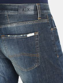 ARMANI EXCHANGE STRAIGHT FIT WHISKERED JEANS STRAIGHT FIT JEANS Man e