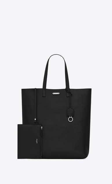 SAINT LAURENT Tote Bag Uomo bold tote bag in pelle nera b_V4