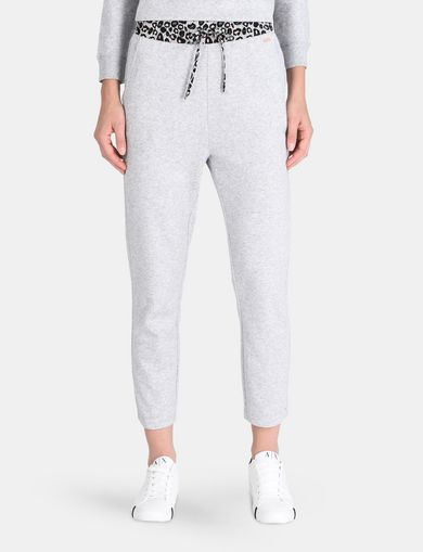 LEOPARD WAISTBAND SWEATPANTS
