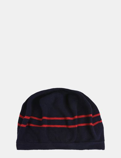 STRIPE ACCENT KNIT BERET