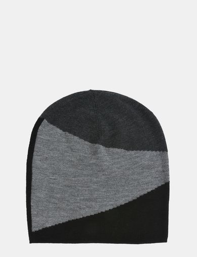 WOOL COLORBLOCK BEANIE