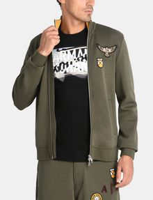 ARMANI EXCHANGE LOGO PATCH FUNNELNECK SWEATSHIRT Fleece Jacket Man f