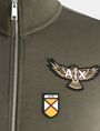 ARMANI EXCHANGE LOGO PATCH FUNNELNECK SWEATSHIRT Fleece Jacket Man e