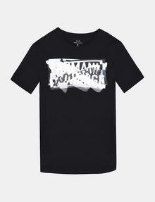 ARMANI EXCHANGE CROSSOVER PRINT LOGO T-SHIRT Logo T-shirt Man b