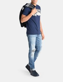 ARMANI EXCHANGE CROSSOVER PRINT LOGO T-SHIRT Logo T-shirt Man a