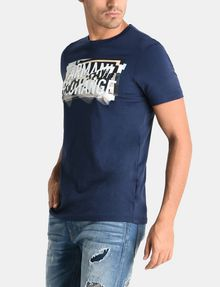ARMANI EXCHANGE CROSSOVER PRINT LOGO T-SHIRT Logo T-shirt Man d