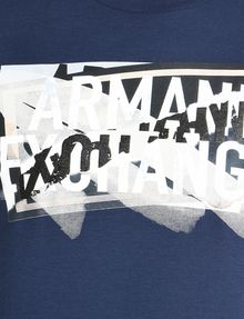 ARMANI EXCHANGE CROSSOVER PRINT LOGO T-SHIRT Logo T-shirt Man e