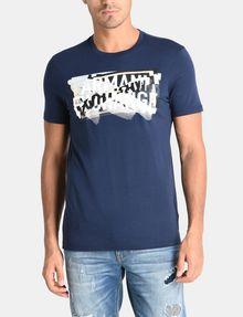 ARMANI EXCHANGE CROSSOVER PRINT LOGO T-SHIRT Logo T-shirt Man f