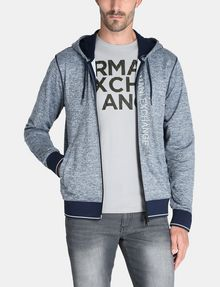 ARMANI EXCHANGE SPACE DYE TERRY HOODIE Fleece Jacket Man f