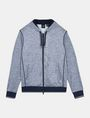 ARMANI EXCHANGE SPACE DYE TERRY HOODIE Fleece Jacket Man b