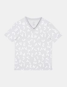 ARMANI EXCHANGE BROKEN LETTERS V-NECK T-SHIRT S/S Knit Top Man b