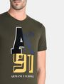 ARMANI EXCHANGE MIXED FONT CREWNECK T-SHIRT Logo T-shirt Man e