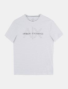 ARMANI EXCHANGE FEEDER STRIPE LOGO T-SHIRT S/S Knit Top Man b
