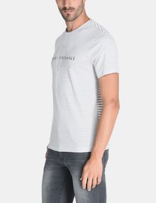 ARMANI EXCHANGE FEEDER STRIPE LOGO T-SHIRT S/S Knit Top Man d
