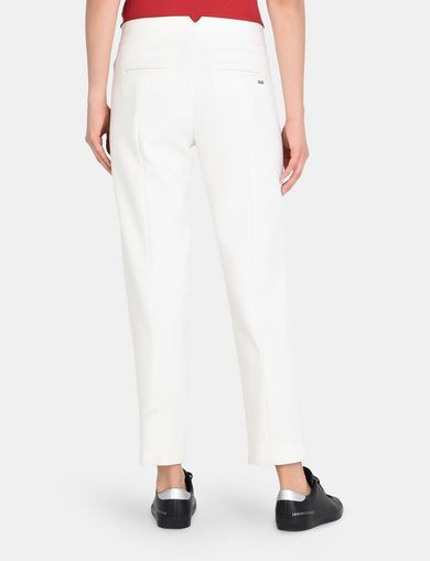SLIM NOTCHED-WAIST TROUSERS