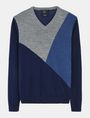 ARMANI EXCHANGE COLORBLOCK MERINO V-NECK SWEATER Pullover Man b