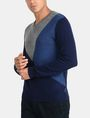 ARMANI EXCHANGE COLORBLOCK MERINO V-NECK SWEATER Pullover Man d