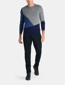 ARMANI EXCHANGE COLORBLOCK MERINO CREWNECK SWEATER Pullover Man a