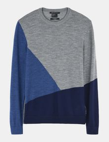 ARMANI EXCHANGE COLORBLOCK MERINO CREWNECK SWEATER Pullover Man b