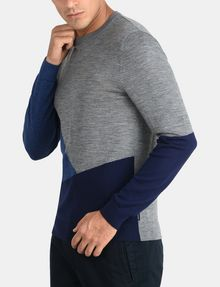 ARMANI EXCHANGE COLORBLOCK MERINO CREWNECK SWEATER Pullover Man d