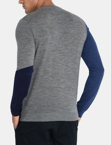 ARMANI EXCHANGE COLORBLOCK MERINO CREWNECK SWEATER Pullover Man r