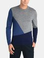 ARMANI EXCHANGE COLORBLOCK MERINO CREWNECK SWEATER Pullover Man f