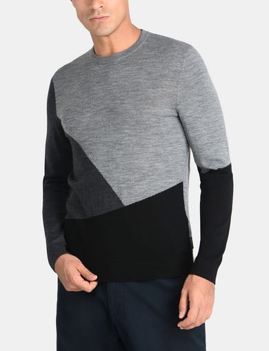 COLORBLOCK MERINO CREWNECK SWEATER