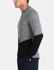 ARMANI EXCHANGE COLORBLOCK MERINO CREWNECK SWEATER Pullover Man d
