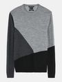 ARMANI EXCHANGE COLORBLOCK MERINO CREWNECK SWEATER Pullover Man b