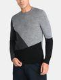ARMANI EXCHANGE COLORBLOCK MERINO CREWNECK SWEATER Pullover Man f