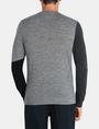 ARMANI EXCHANGE COLORBLOCK MERINO CREWNECK SWEATER Pullover Man r