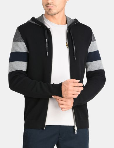 STRIPED COLORBLOCK HOODIE SWEATER
