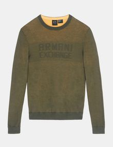 ARMANI EXCHANGE DOUBLE-KNIT LOGO SWEATER Pullover Man b