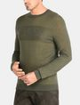 ARMANI EXCHANGE DOUBLE-KNIT LOGO SWEATER Pullover Man d