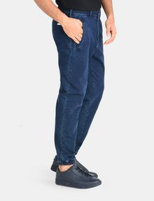 ARMANI EXCHANGE FRENCH TERRY INDIGO JOGGERS Novelty Fit Denim Man d