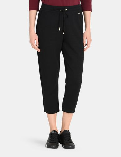 TEXTURED CROPPED SWEATPANTS