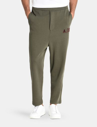 LOGO PATCH FLEECE PANTS