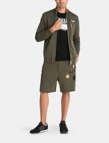 ARMANI EXCHANGE LOGO PATCH RELAXED SHORTS Fleece Short Man a