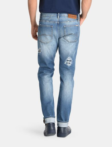 SKINNY PATCHED UP JEANS