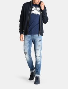 ARMANI EXCHANGE SKINNY PATCHED UP JEANS Skinny jeans Man a