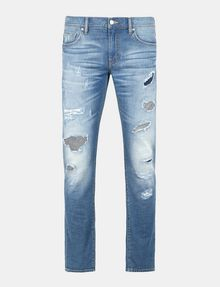 ARMANI EXCHANGE SKINNY PATCHED UP JEANS Skinny jeans Man b