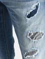 ARMANI EXCHANGE SKINNY PATCHED UP JEANS Skinny jeans Man e