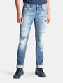 ARMANI EXCHANGE SKINNY PATCHED UP JEANS Skinny jeans Man f