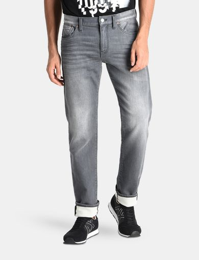 STRAIGHT FIT FLEECE JEANS