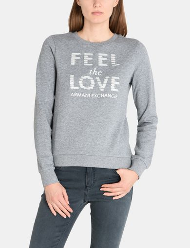 FEEL THE LOVE FRINGE SWEAT TOP