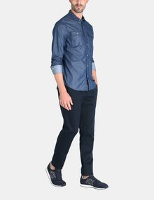 ARMANI EXCHANGE INDIGO CHAMBRAY WORKSHIRT Long sleeve shirt Man a