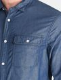 ARMANI EXCHANGE INDIGO CHAMBRAY WORKSHIRT Long sleeve shirt Man e