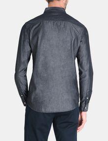 ARMANI EXCHANGE INDIGO CHAMBRAY WORKSHIRT Long sleeve shirt Man r
