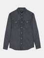 ARMANI EXCHANGE INDIGO CHAMBRAY WORKSHIRT Long sleeve shirt Man b